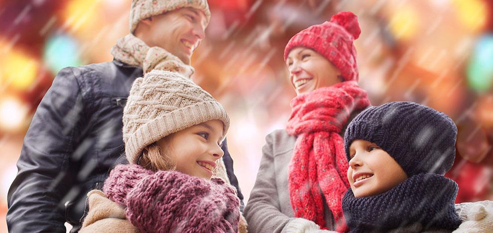 Børn med forældre til jul